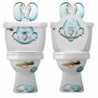 Dekorace WC Zajíc